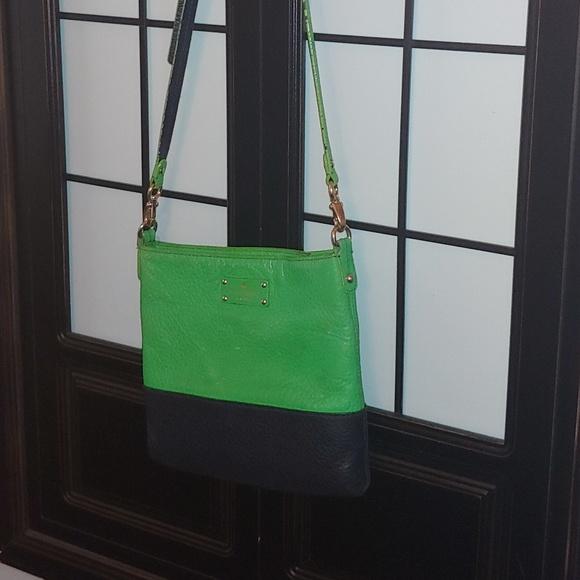 kate spade Handbags - Sale❗Authentic Kate Spade green & blue crossbody
